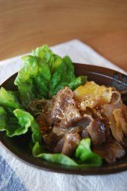 春雨と白菜のうま煮