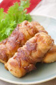 豆腐のポークロール